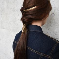 ハーフアップ ヘアアレンジ ヘアピン 編み込み ヘアスタイルや髪型の写真・画像