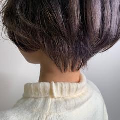ナチュラル ハンサムショート ミニボブ ショートボブ ヘアスタイルや髪型の写真・画像