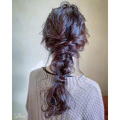 結婚式 エレガント 編みおろし お呼ばれ ヘアスタイルや髪型の写真・画像