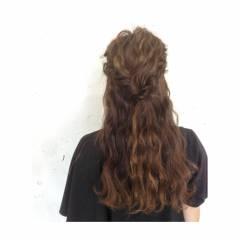 編み込み コンサバ 二次会 春 ヘアスタイルや髪型の写真・画像