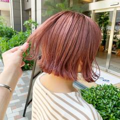 ストリート ピンクカラー ピンクベージュ ピンクラベンダー ヘアスタイルや髪型の写真・画像