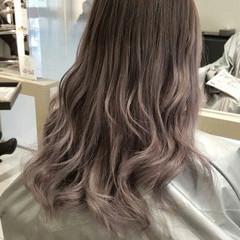 グラデーションカラー ブリーチ ヘアアレンジ ロング ヘアスタイルや髪型の写真・画像