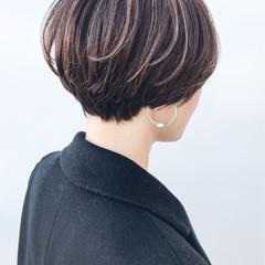 ナチュラル ショート 大人かわいい ショートボブ ヘアスタイルや髪型の写真・画像