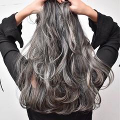 グレージュ ハイライト 外国人風カラー 外国人風 ヘアスタイルや髪型の写真・画像