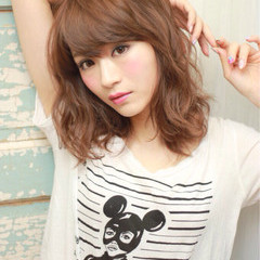 暗髪 ピュア パーマ ナチュラル ヘアスタイルや髪型の写真・画像