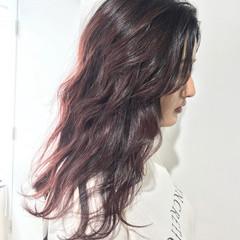 カシスレッド バイオレット カシスカラー モード ヘアスタイルや髪型の写真・画像