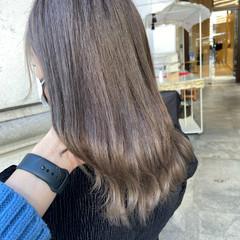 ミルクティーベージュ ミルクティーブラウン ミルクティーグレージュ ミルクティーグレー ヘアスタイルや髪型の写真・画像