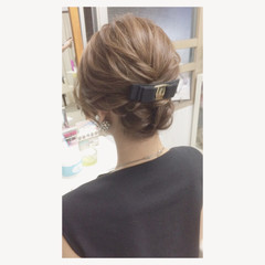 フェミニン ヘアアレンジ 結婚式 大人かわいい ヘアスタイルや髪型の写真・画像