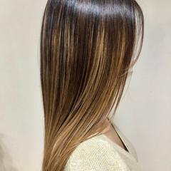 トリートメント ブリーチ 髪質改善 ロング ヘアスタイルや髪型の写真・画像