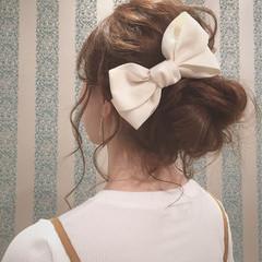 ロング ねじり ルーズ ヘアアレンジ ヘアスタイルや髪型の写真・画像