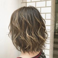 モテ髪 ハイライト ボブ 外国人風 ヘアスタイルや髪型の写真・画像