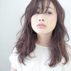 パーマ アッシュ 暗髪 コンサバ ヘアスタイルや髪型の写真・画像