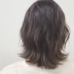 透明感 ストリート ミディアム アッシュ ヘアスタイルや髪型の写真・画像