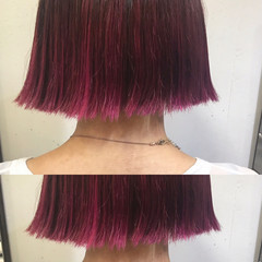 ミルクティー ミディアム ニュアンス インナーカラー ヘアスタイルや髪型の写真・画像