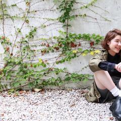 パーマ ナチュラル グラデーションカラー ミディアム ヘアスタイルや髪型の写真・画像