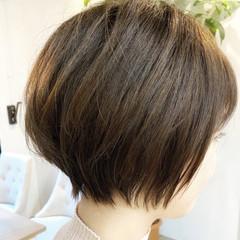 縮毛矯正 ショート ゆるふわ コンサバ ヘアスタイルや髪型の写真・画像