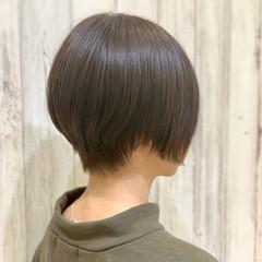 ナチュラル ショート マッシュショート ミニボブ ヘアスタイルや髪型の写真・画像