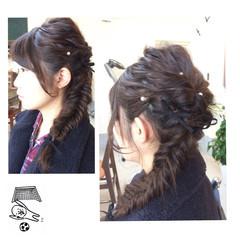 ナチュラル ロング 編み込み フィッシュボーン ヘアスタイルや髪型の写真・画像