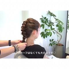 ヘアアレンジ 上品 編み込み 結婚式 ヘアスタイルや髪型の写真・画像