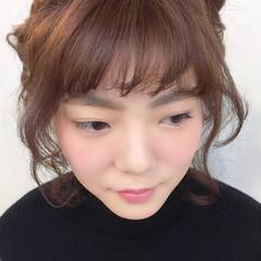 ヘアアレンジ 編み込み ミディアム 簡単ヘアアレンジ ヘアスタイルや髪型の写真・画像