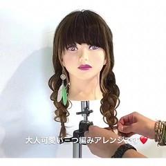 女子会 簡単ヘアアレンジ 三つ編み ヘアアレンジ ヘアスタイルや髪型の写真・画像