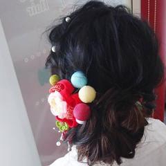 成人式 セミロング 成人式ヘア ナチュラル ヘアスタイルや髪型の写真・画像