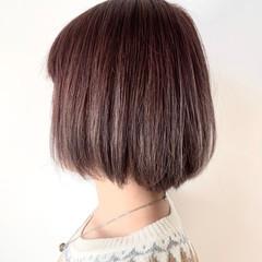 ボブ ブリーチ ダブルカラー ピンクグレージュ ヘアスタイルや髪型の写真・画像