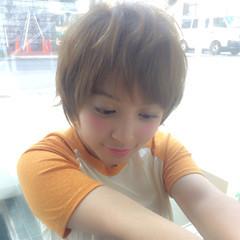 小顔 大人女子 ショート ナチュラル ヘアスタイルや髪型の写真・画像