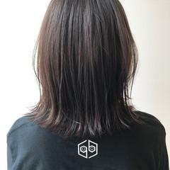 アッシュグレージュ ストリート 透明感 ボブ ヘアスタイルや髪型の写真・画像