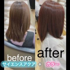 髪質改善カラー ロング ナチュラル 髪質改善トリートメント ヘアスタイルや髪型の写真・画像