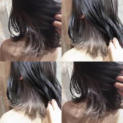 外国人風カラー グラデーションカラー ボブ ナチュラル ヘアスタイルや髪型の写真・画像