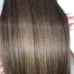髪質改善 ツヤ髪 髪質改善トリートメント ナチュラル ヘアスタイルや髪型の写真・画像