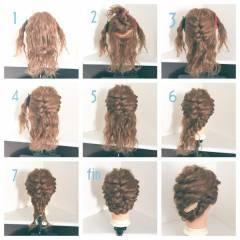 ロング 波ウェーブ 結婚式 ショート ヘアスタイルや髪型の写真・画像