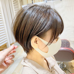 ナチュラル ショートヘア 大人ショート ショート ヘアスタイルや髪型の写真・画像