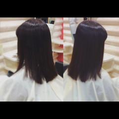 縮毛矯正 社会人の味方 ヘアケア ロング ヘアスタイルや髪型の写真・画像