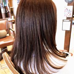 オフィス ナチュラル デート セミロング ヘアスタイルや髪型の写真・画像