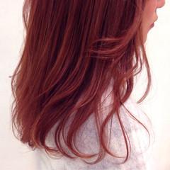 ゆるふわ ロング ピンク 冬 ヘアスタイルや髪型の写真・画像