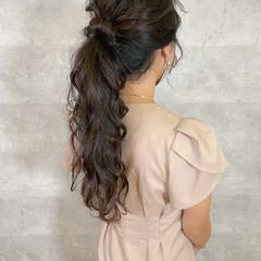 アンニュイほつれヘア ロング ナチュラル 簡単ヘアアレンジ ヘアスタイルや髪型の写真・画像