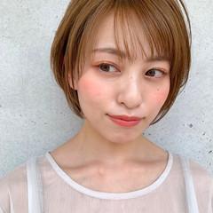 髪質改善トリートメント ナチュラル 丸みショート ショートボブ ヘアスタイルや髪型の写真・画像