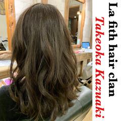 ナチュラル セミロング ブリーチなし 透明感 ヘアスタイルや髪型の写真・画像