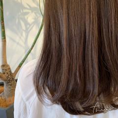 ワンカールパーマ セミロング 毛先パーマ ナチュラル ヘアスタイルや髪型の写真・画像