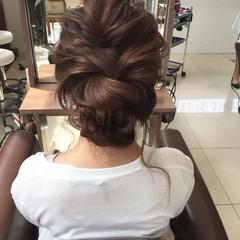 ヘアアレンジ 結婚式 エレガント セミロング ヘアスタイルや髪型の写真・画像