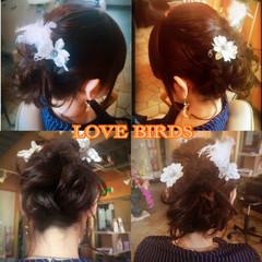 くるりんぱ ミディアム ヘアアレンジ フェミニン ヘアスタイルや髪型の写真・画像
