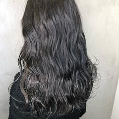 ハイライト 黒髪 オフィス ロング ヘアスタイルや髪型の写真・画像
