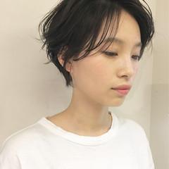 ショート 簡単ヘアアレンジ ナチュラル 女子力 ヘアスタイルや髪型の写真・画像