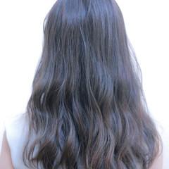 大人かわいい セミロング ナチュラル ハイライト ヘアスタイルや髪型の写真・画像