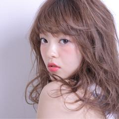 ガーリー セミロング 大人かわいい かわいい ヘアスタイルや髪型の写真・画像