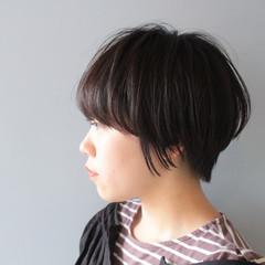 ショートボブ 小顔ショート 黒髪 ショート ヘアスタイルや髪型の写真・画像