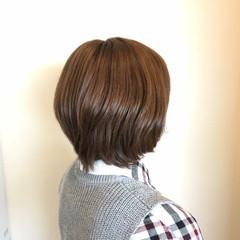 ナチュラル 小顔 春 ショートボブ ヘアスタイルや髪型の写真・画像