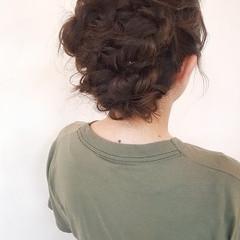 ロング 女子会 結婚式 ヘアアレンジ ヘアスタイルや髪型の写真・画像